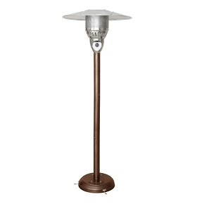 Golden flame patio heater
