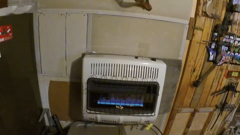 blue flame natural gas space heater